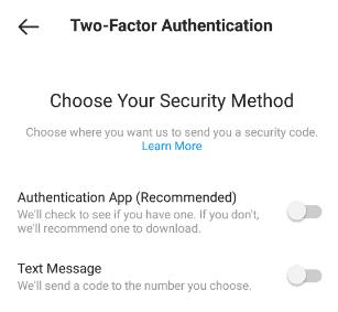 instagram security